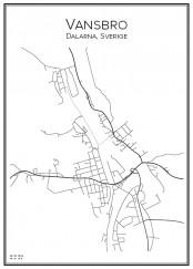 Stadskarta över Vansbro