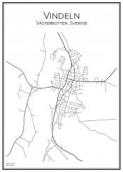 Stadskarta över Vindeln