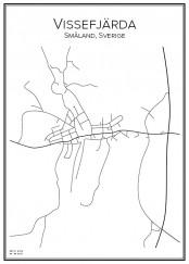 Stadskarta över Vissefjärda