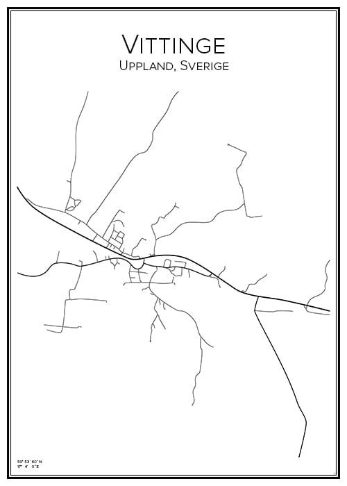 Stadskarta över Vittinge