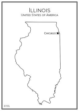 Stadskarta över Illinois