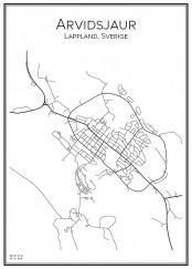 Stadskarta över Arvidsjaur