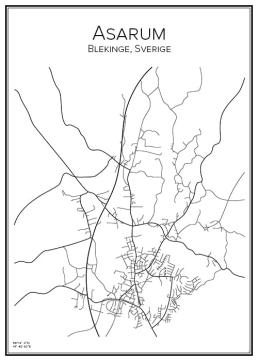 Stadskarta över Asraum