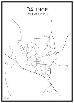 Stadskarta över Bälinge