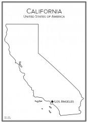 Stadskarta över Kalifornien