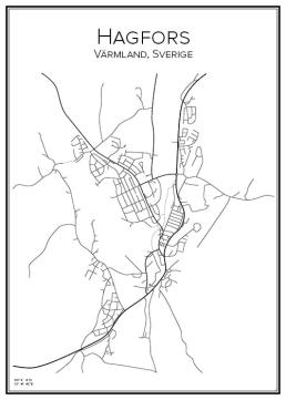 Stadskarta över Hagfors
