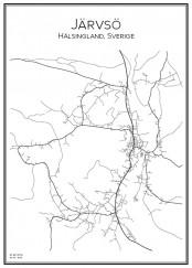 Stadskarta över Järvsö