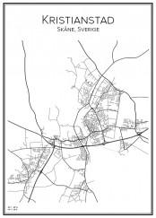 Stadskarta över Kristianstad