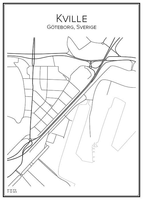 Stadskarta över Kville
