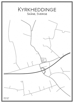 Stadskarta över Kyrkheddinge