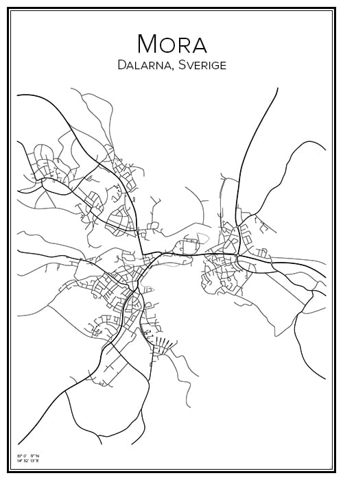 Stadskarta över Mora