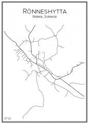 Stadskarta över Rönneshytta