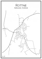 Stadskarta över Rottne