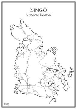 Stadskarta över Singö