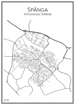Stadskarta över Spånga
