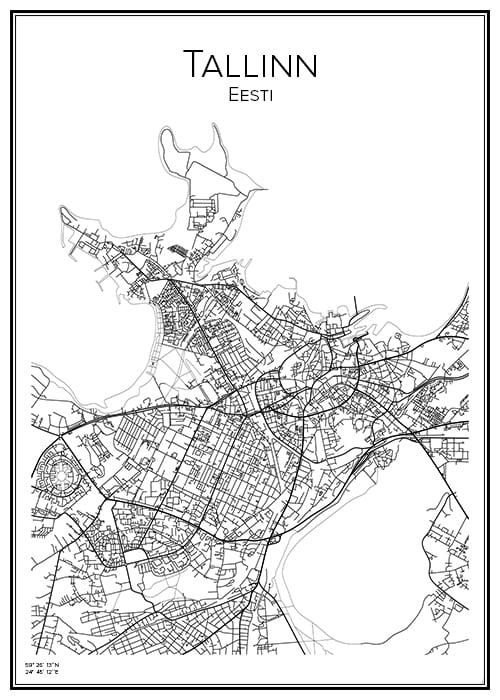 Stadskarta över Tallinn