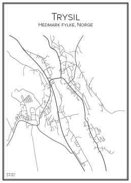 Stadskarta över Trysil