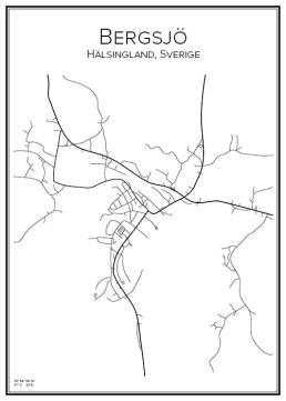 Stadskarta över Bergsjö