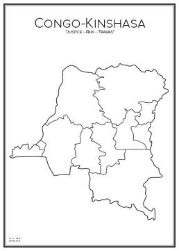 Stadskarta över Kongo Kinshasa