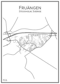 Stadskarta över Fruängen