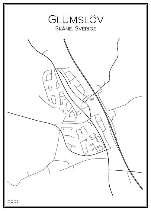 Stadskarta över Glumslöv
