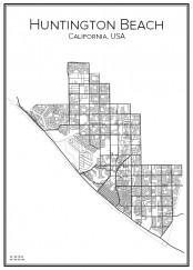 Stadskarta över Huntington Beach