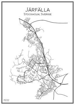 Stadskarta över Järfälla