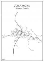 Stadskarta över Jokkmokk