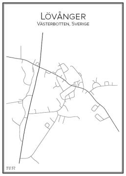 Stadskarta över Lövånger