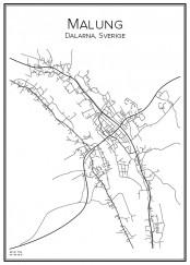 Stadskarta över Malung