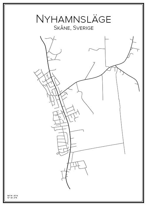 Stadskarta över Nyhamnsläge