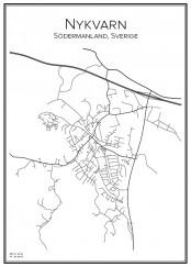 Stadskarta över Nykvarn