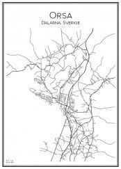 Stadskarta över Orsa