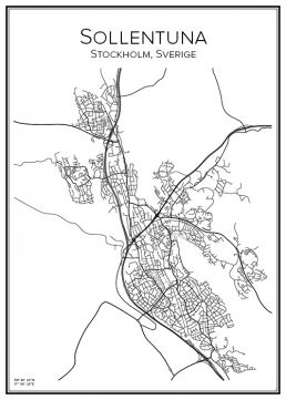 Stadskarta över Sollentuna