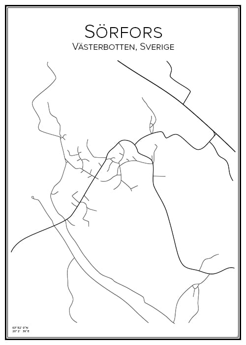 Stadskarta över Sörfors
