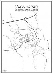 Stadskarta över Vagnhärad