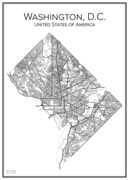 Stadskarta över Washington