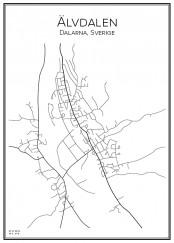 Stadskarta över Älvdalen