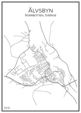 Stadskarta över Älvsbyn