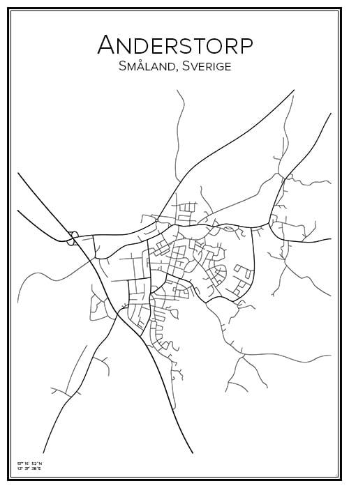 Stadskarta över Anderstorp