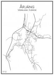 Stadskarta över Årjäng