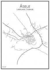 Stadskarta över Åsele