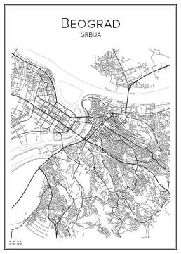 Stadskarta över Belgrad