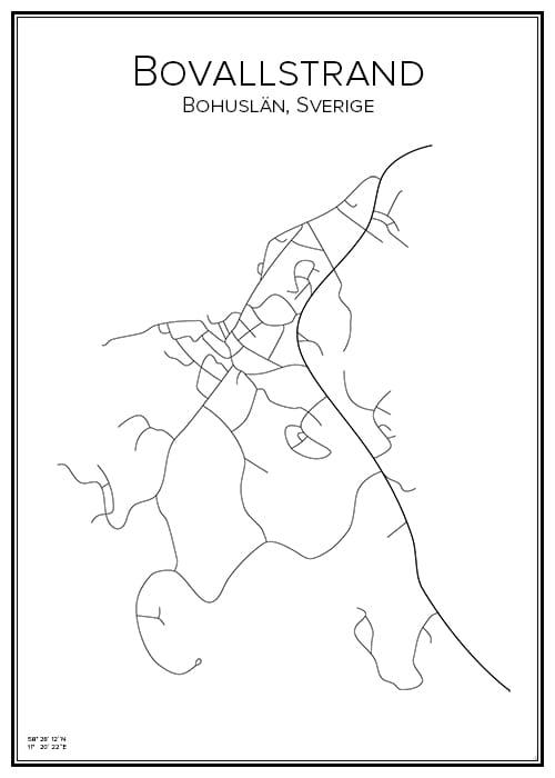 Stadskarta över Bovallstrand