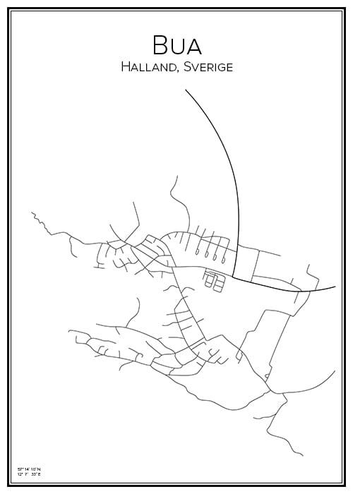 Stadskarta över Bua