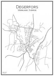 Stadskarta över Degerfors