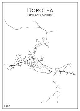 Stadskarta över Dorotea