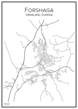 Stadskarta över Forshaga