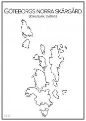 Stadskarta över Göteborgs norra skärgård