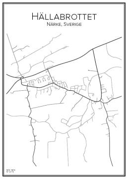 Stadskarta över Hällabrottet